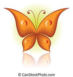 sommerfugl, blot
