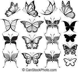 sommerfugl, clipart
