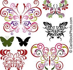 sommerfugl, elementer, sæt