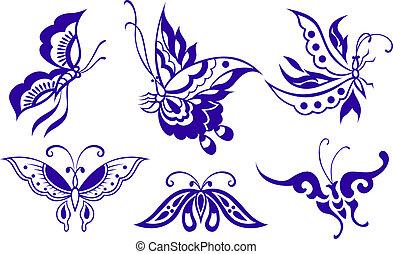 sommerfugl, illustration