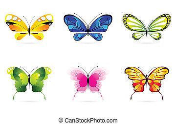 sommerfugle, sæt