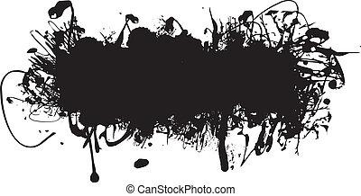 sort blæk, plaske