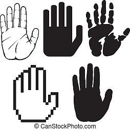sort, hænder