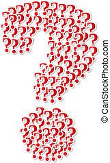 spørgsmål marker