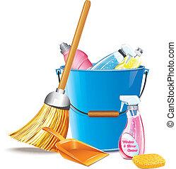 spand, rengøringsmidler