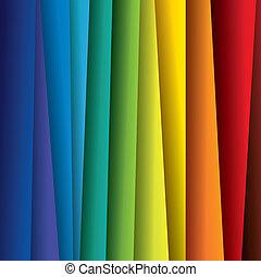 spektrum, eller, farve, farverig, lagener, graphic., abstrakt, avis, (backdrop), regnbue, baggrund, illustration, -, vektor, behersker, denne