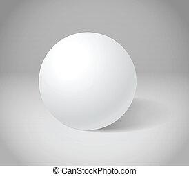 sphere, hvid, scene, gråne