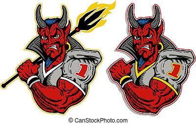 spiller, djævel, fodbold