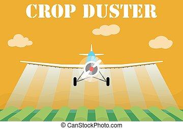 sprøjte, agerjord, duster, crop, felt, flyvemaskine