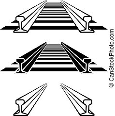 stål, profil, banen, symbol, skinne, tog