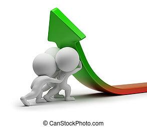 statistik, folk, -, forbedring, lille, 3