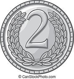 sted, anden, medalje