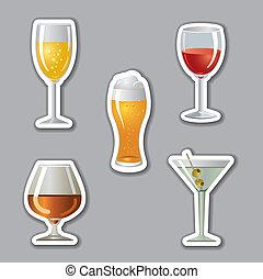 stickers, alkohol, drinks