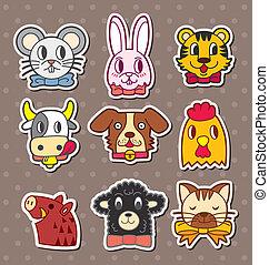 stickers, dyr ansigt