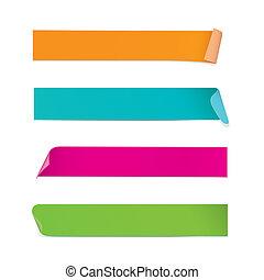 stickers, farverig, (vector)