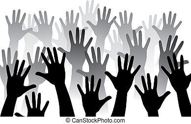 stige, hånd