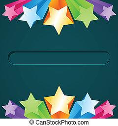 stjerne, farverig, baggrund