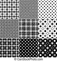 stor, seamless, samling, mønstre