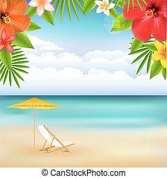 strand, landskab