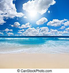 strand, landskab, gorgeous