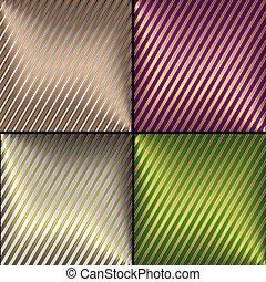 stribet, vektor, baggrunde, diagonal, samling