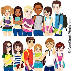 studerende, gruppe