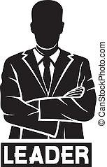 (successful, businessman), leder