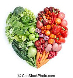 sund mad, grøn rød