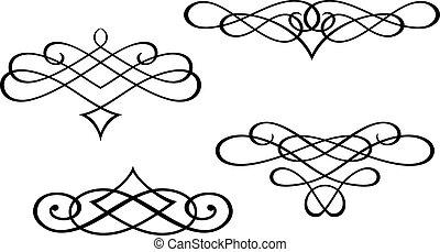 swirl, monogrammer, elementer