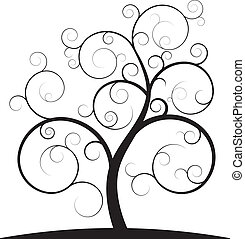 swirl, træ