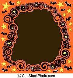 swirly, halloween, grænse