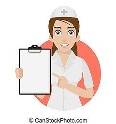 sygeplejerske, punkter, cirkel, form