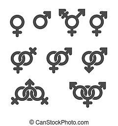 symbol gender, icons.