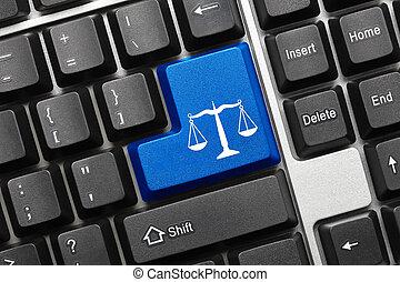 symbol, -, key), klaviatur, begrebsmæssig, (blue, lov