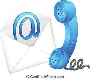 symbol, kontakt, email