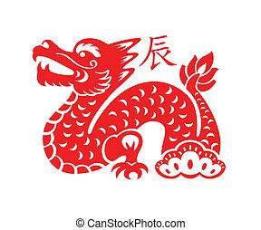 symbol, lunar, drage