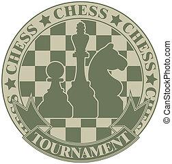 symbol, turnering, chess