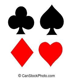 symboler, spille card