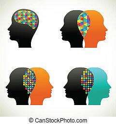 synes, folk, kommunikere, samtalen