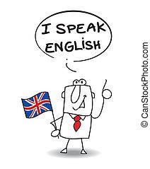 tal, engelsk