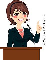 tal, kvinde, politiker