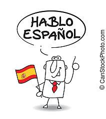 tal, spansk