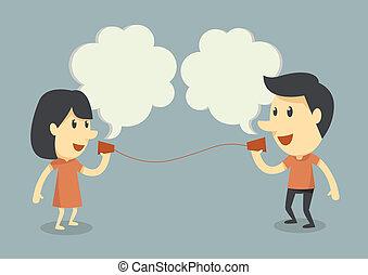 tales, telefon, kop