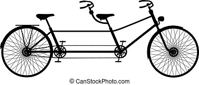 tandem cykel, retro