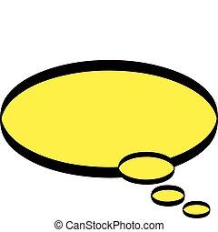 tanke ballon, glose, cartoon