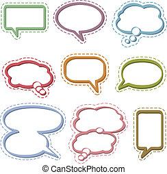 tanke, bobler, tale, og