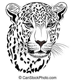 tatovering, leopard