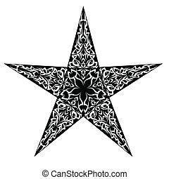 Tatovering, stjerne. Tatovering, firmanavnet, stjerne