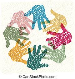teamwork, hænder