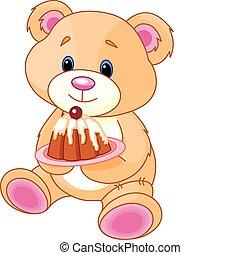teddy, kage, bjørn
